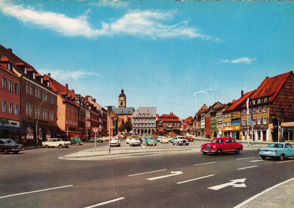 Der Marktplatz in den 1950ern - Foto: privat