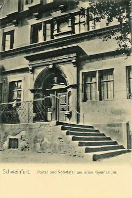 Eingang Altes Gymnasium im Jahre 1906
