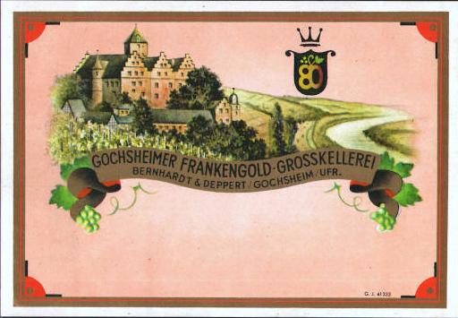 Getränkeetikett mit Schloß Mainberg