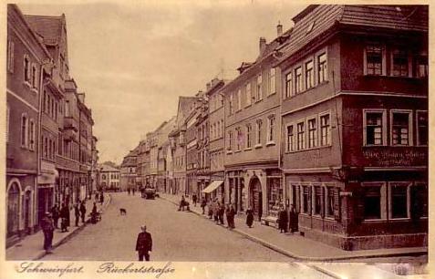 Rückerstraße Schweinfurt 1935