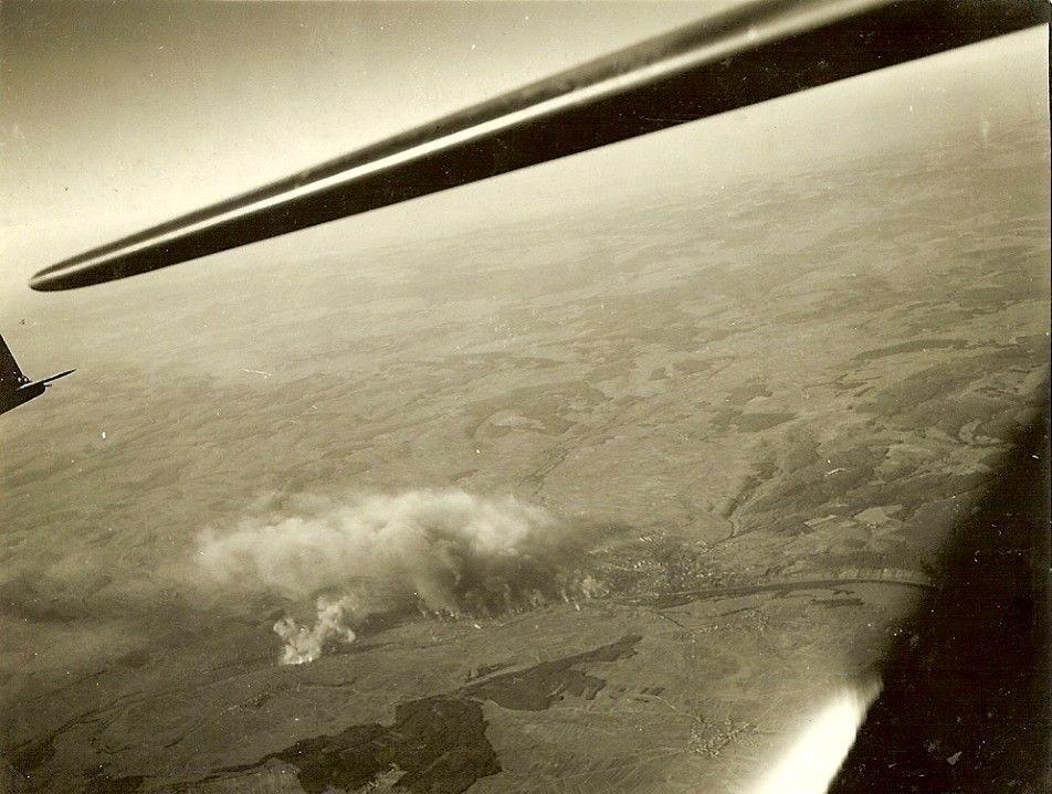 B17-Bomber 390th Bombergruppe über Schweinfurt 14.10.1943