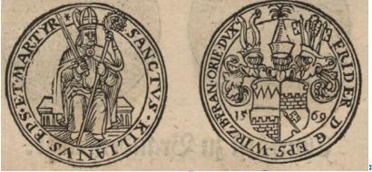 Würzburger Taler im Jahre 1569