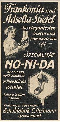 alte Anzeige der Schuhfabrik