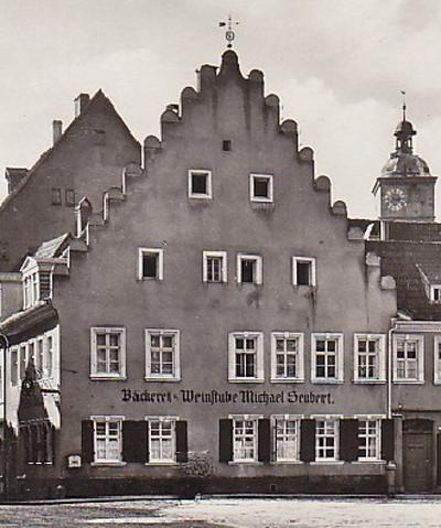 Bäckerei u. Weinstube Seubert (später Kohl und Erdinger) 1908 - danke an Peter Hösel