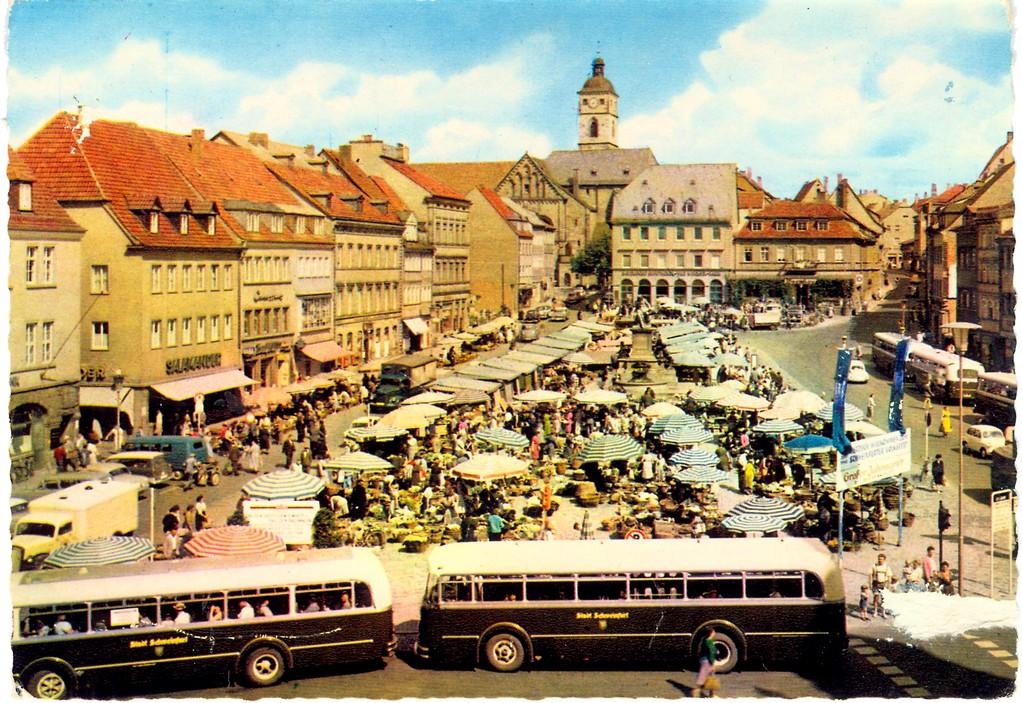 Der Marktplatz in den 1960ern - Dank an Andreas Hedler