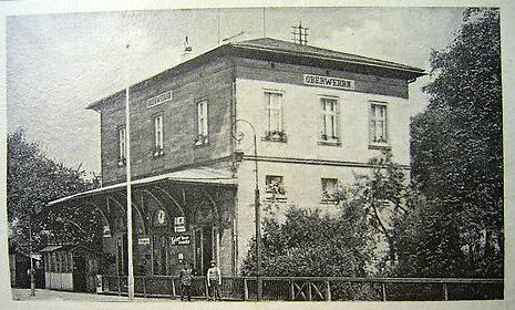 Bahnhof Oberwerrn - 1942 - gasthof zur Eisenbahn