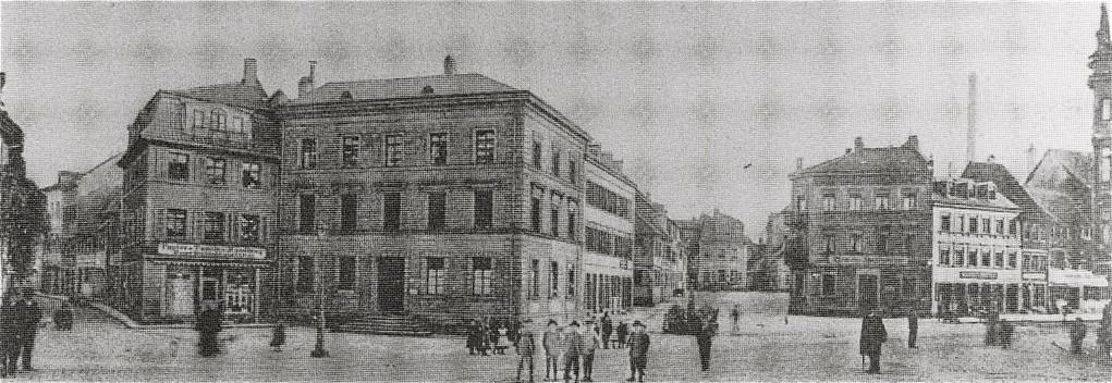 rechts Schultesstraße, links Spitalstraße