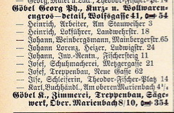 Auszug aus Adressbuch 1936