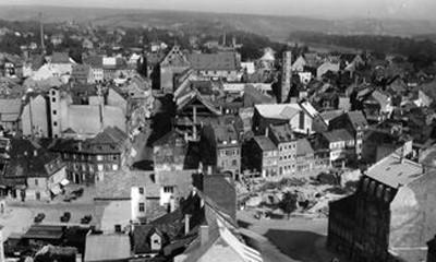 Blick auf Albrecht-Dürer-Platz und Spitalstraße ca.1930