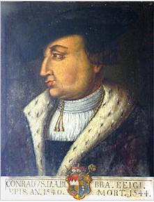 Konrad von Bibra - später Fürstbischof v. Würzburg
