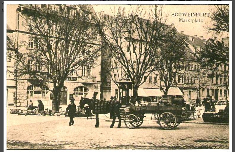 Marktplatz um 1925