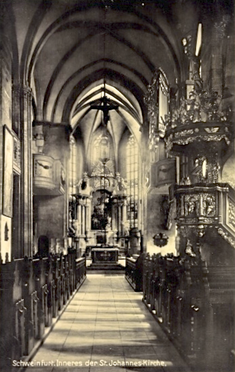 Blick in die Johanniskirche - ca. 1929