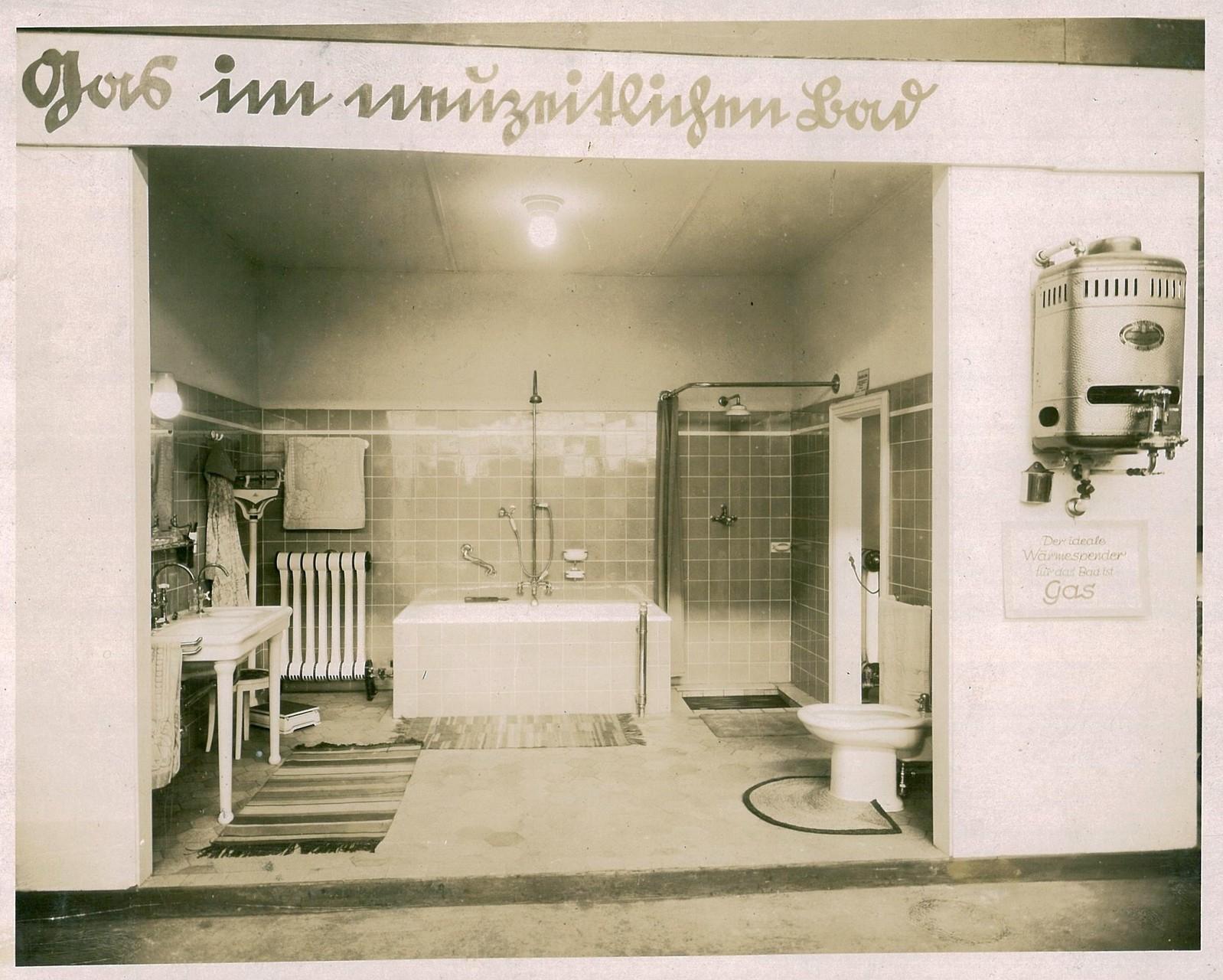 Gas im neuzeitlichen Bad