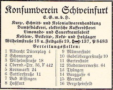Anzeige aus dem Adressbuch 1932