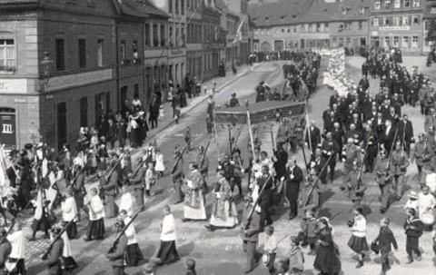 Am Zeughaus 1914 - Fronleichnamsprozession