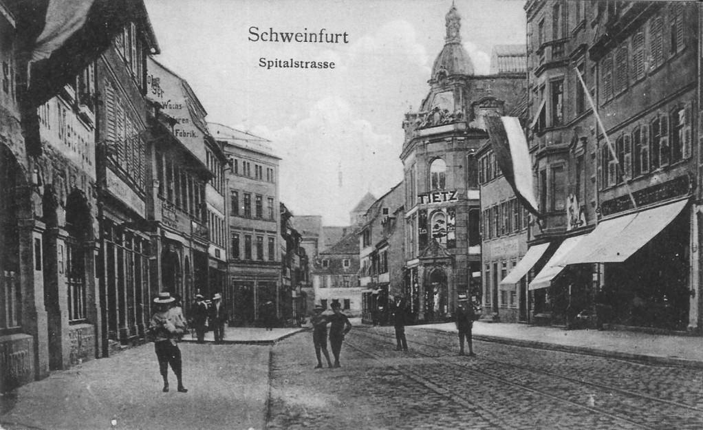 Spitalstraße mit Kaufhaus Tietz