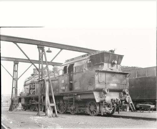 Dampflok 78 158 im Bw Schweinfurt 1964