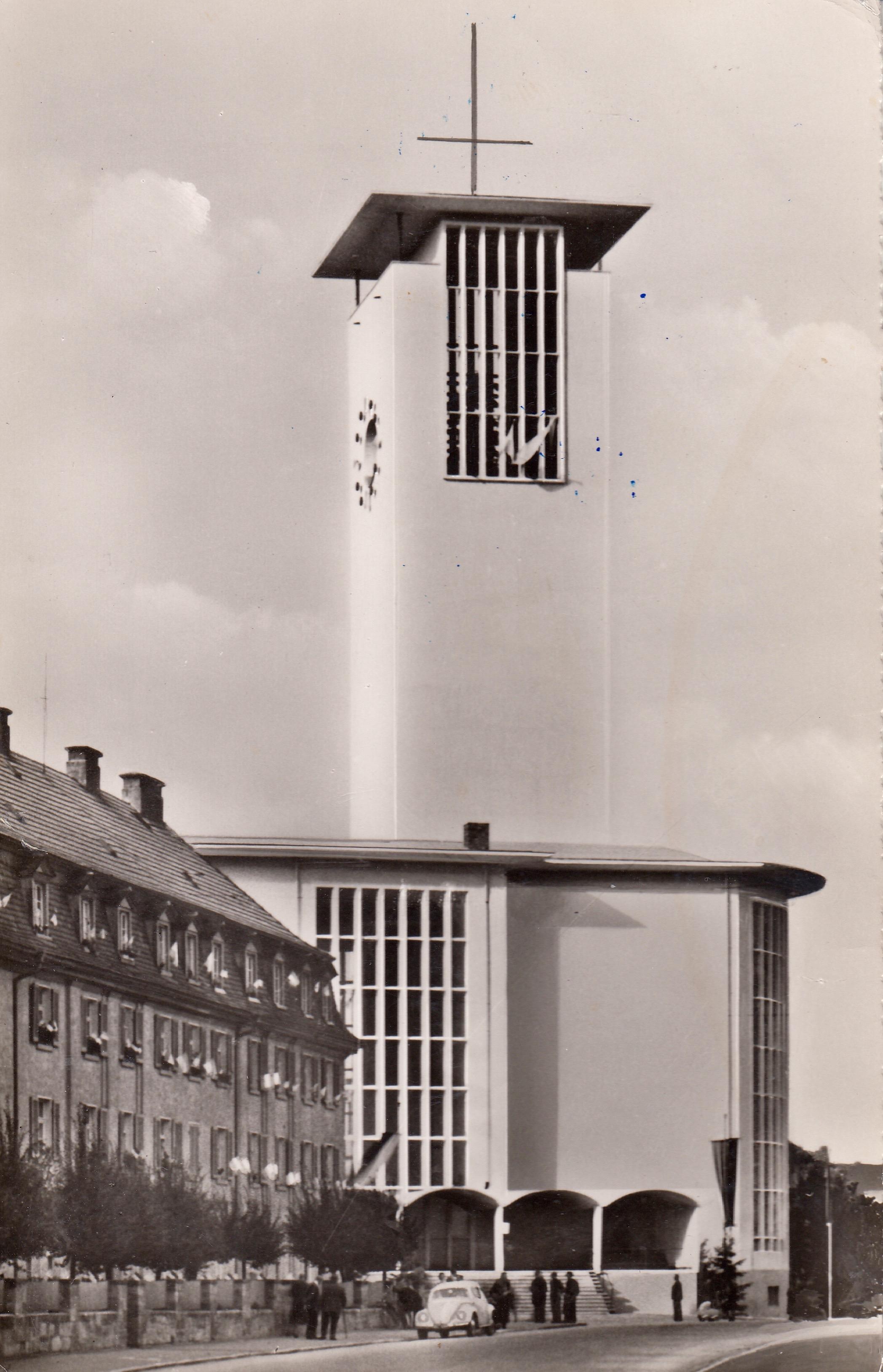 Die heutige Kilianskirche - wieder erbaut am selben Ort hier 1961