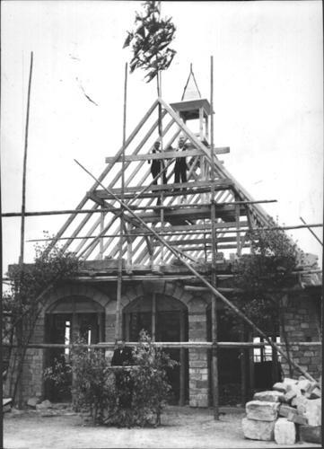 Richtfest 1954 - Aussegnungshalle Gemeindefriedhof - Danke an Michl Kupfer