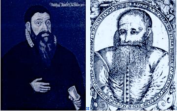 Balthasar Rüffer um 1590 (links) und 1599