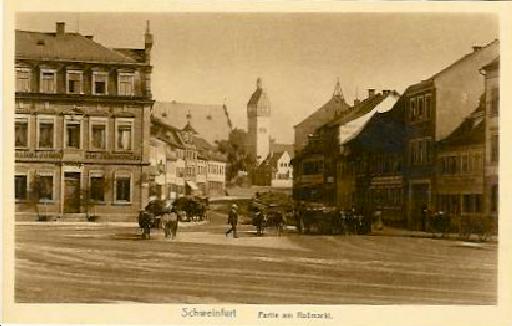 Roßmarkt mit Blick auf das Zeughaus 1919