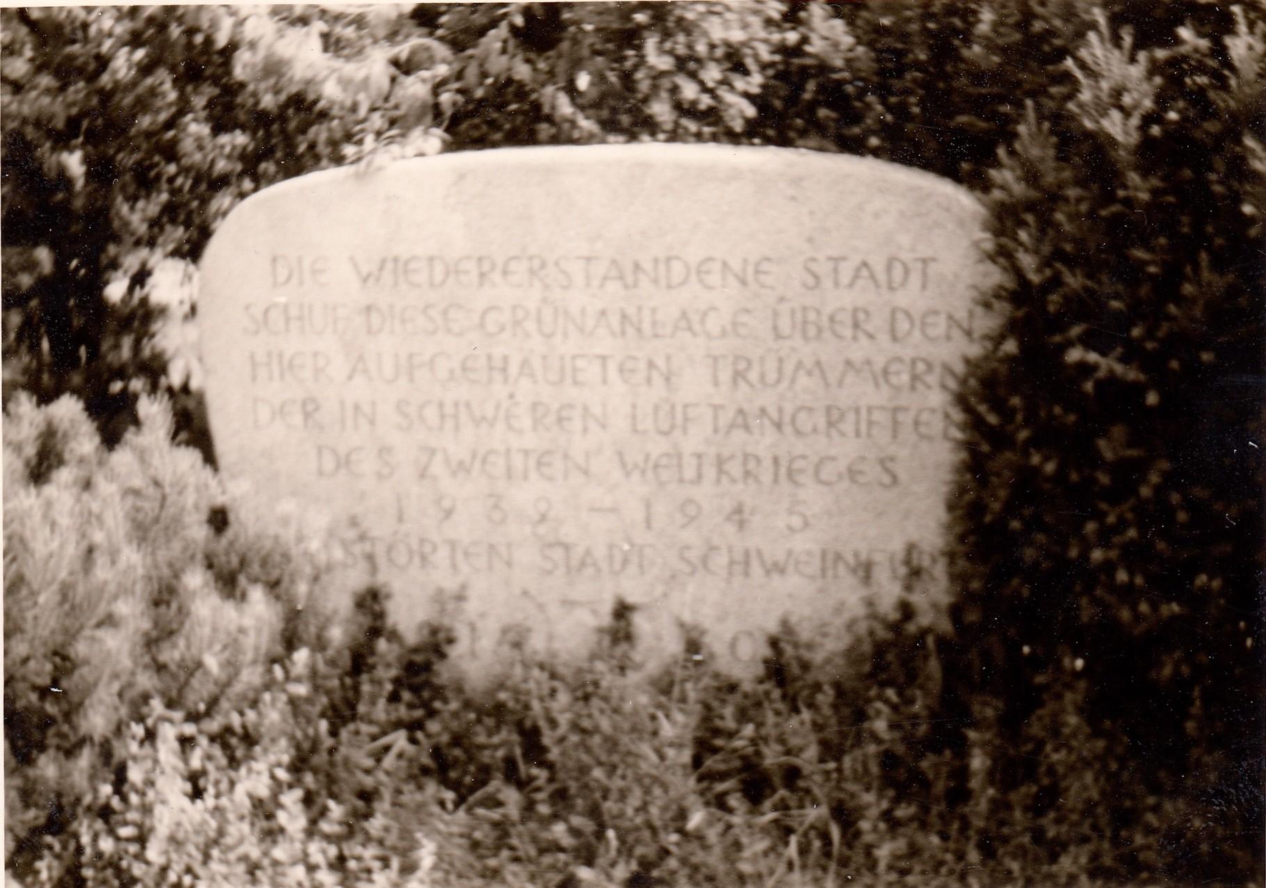 Gedenkstein Schuttberg