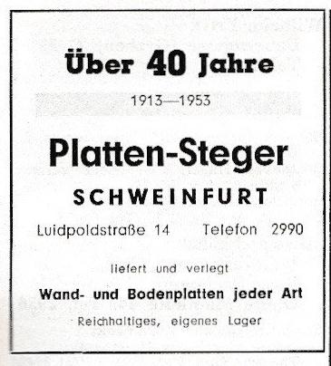 Aus dem Adressbuch 1955