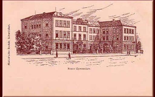 "Das ""neue Gymnasium"" ca. 1905"
