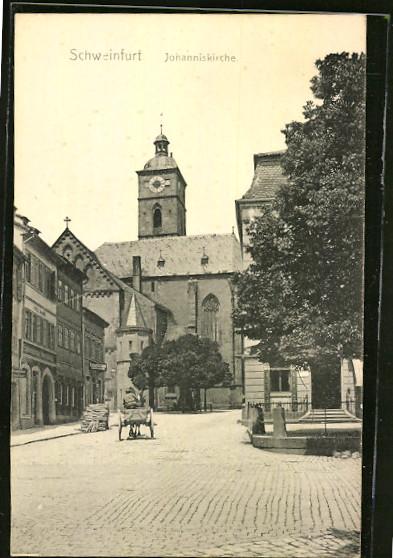 Blick vom Marktplatz zur St. Johanniskirche ca. 1905