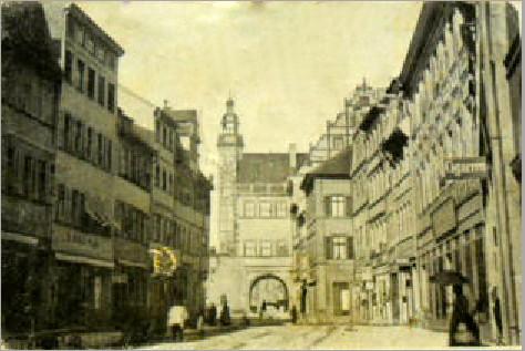 Blick in Richtung Rathaus
