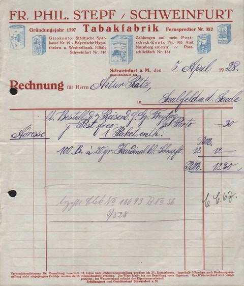 Rechnung 1928