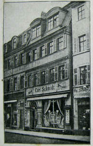Geschäft Carl Schmidt um 1900