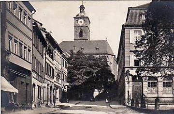 Blick vom Marktplatz zur Johanniskirche ca. 1933