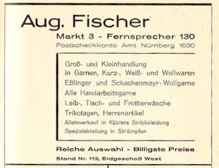 Inserat aus dem Jahre 1934