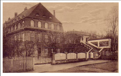 Der Saalbau um 1925