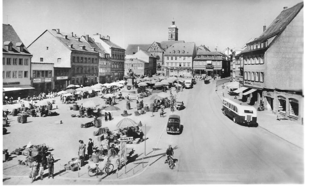 Marktplatz 1955 - Danke Michael Kupfer
