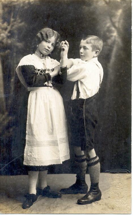 1912 - Geschwisterpaar Julie und Adolf Winter - Volks- und Gebirgstrachtenverein Schweinfurt 02 e.V.