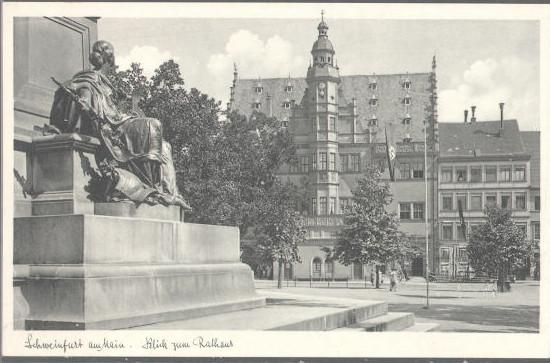 alte Ansicht mit Rückertdenkmal