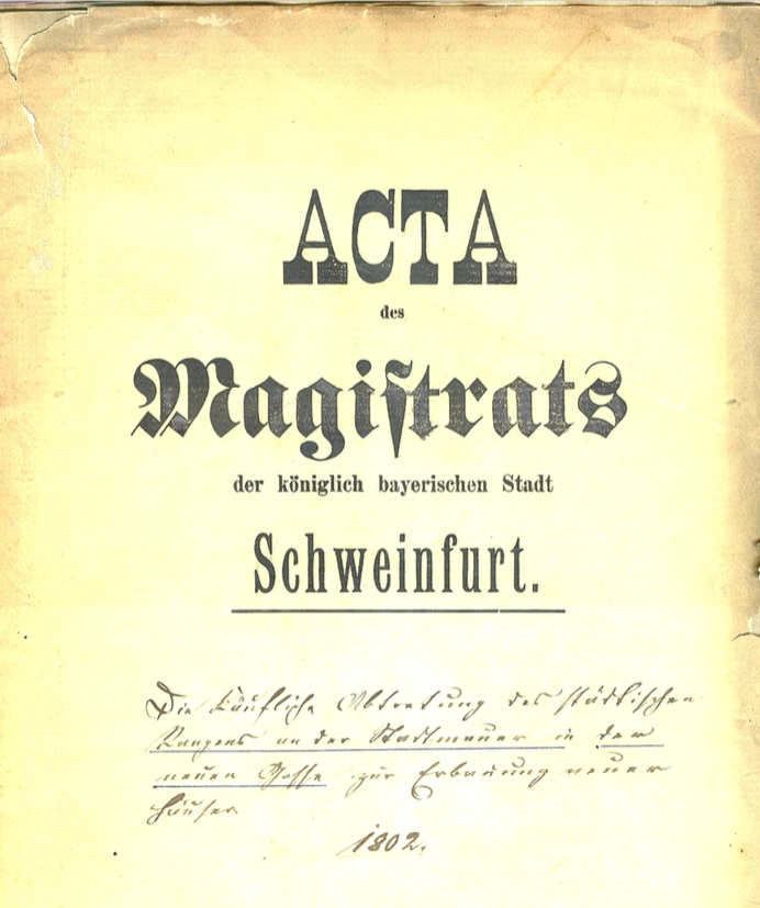 Titelblatt des Kaufvertrags