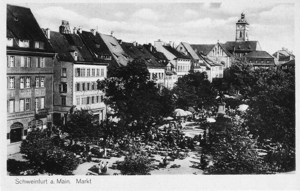 Marktplatz Schweinfurt ca. 1937 - Danke Michael Kupfer