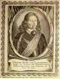 Löwenhaupt (Lewenhaupt, Leijonhufvud), Gustav Adolf Graf von  geb.  24.12.1619  Vinäs gest.  29.11.1656  bei Viborg (Finnland)  Schwedischer Feldmarschall
