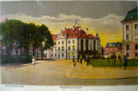 Rentamtsgebäude am Schillerplatz ca. 1909