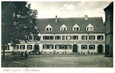 Das alte Pfarrhaus an der St. Johanniskirche 1929