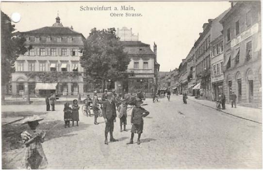 Marktplatz mit Blick in Obere Straße ca. 1909