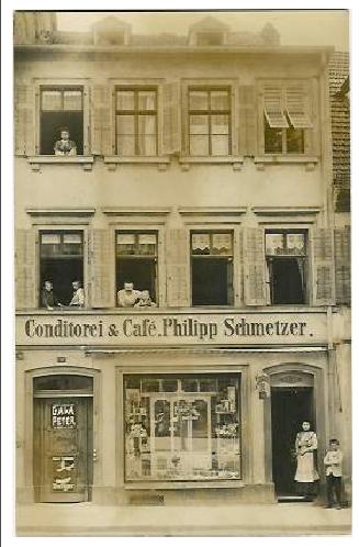 Cafe und Konditorei Schmetzer 1915