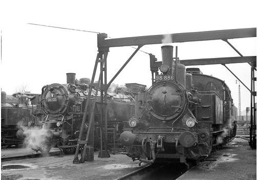 86 132 und 98 886 Bw Schweinfurt 1964