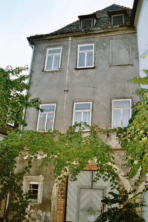 Der Innenhof vor der Renovierung....