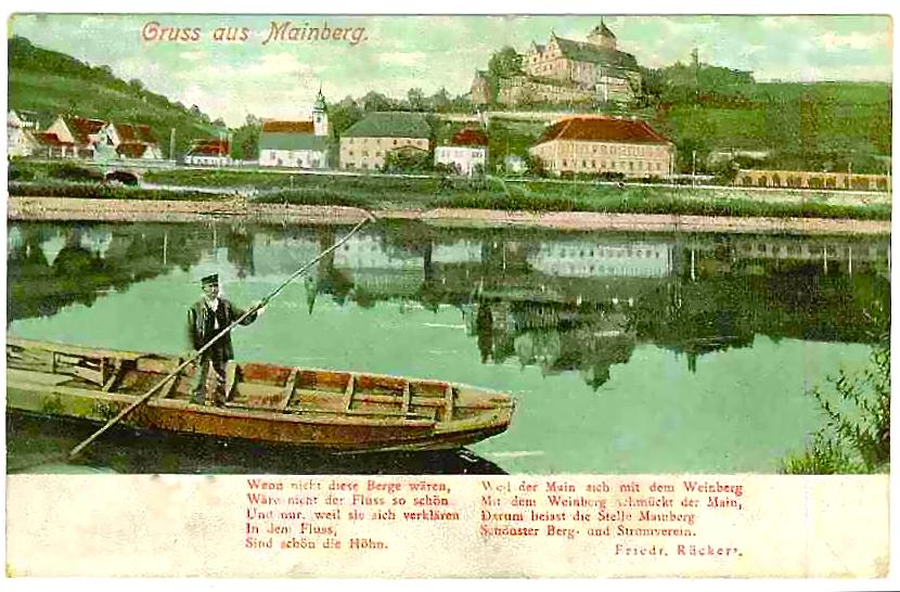 Ansicht 1906 mit Vers von Friedrich Rückert