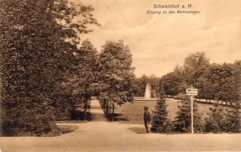 Eingang Wehranlagen ca. 1920