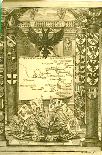 Der fränkische Kreis - Kupferstich aus Lexicon Topographicum